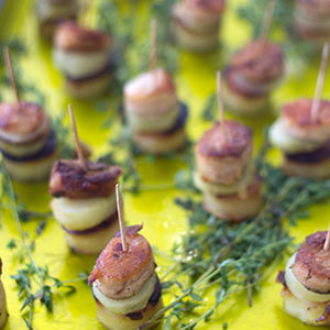 slow roast belly of pork canapes