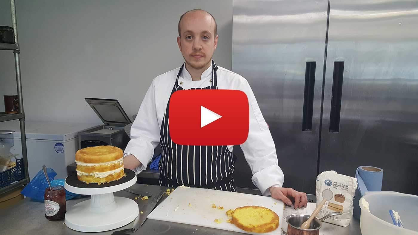 gluten free nacked wedding cake