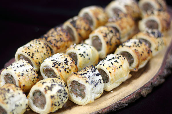 sausage rolls for buffet delivery