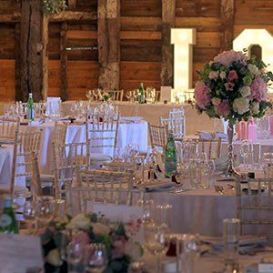 Wedding catering tables